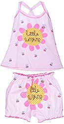 Amy Baby Girls' Dress (B22_1_0-3 Months, Pink, 0-3 Months) - Special Offer with Free Delivery - 100% Cotton Exclusive Kidswear