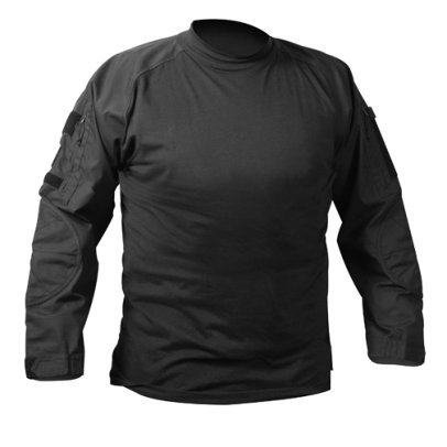 BLACK ARMY COMBAT SHIRT 90010SML, Small