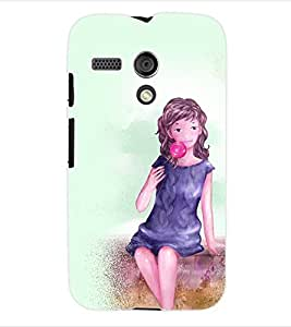 ColourCraft Girly Back Case Cover for MOTOROLA MOTO G X1032