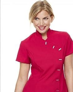 Simon jersey beauty uniform tunic size 16 hot pink amazon for Spa uniform amazon