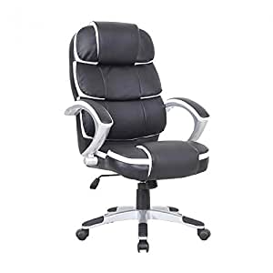 Oypla Luxury Designer Computer Office Chair Black With