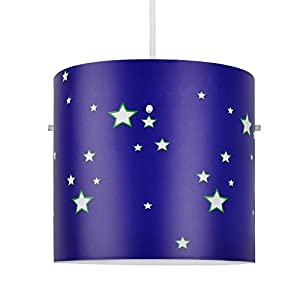 Colourful Space And Stars Children's Cylinder Ceiling Pendant Light Shade