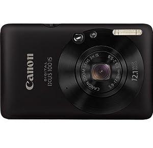 Canon Digital IXUS 100 IS Digital Camera - Black (12.1 MP, 3.0x Optical Zoom) 2.5 inch LCD