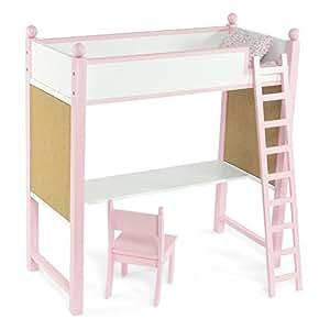 Loft Bed Desk Set Fits American Girl Dolls 18 Inch Doll Furniture Toys Games