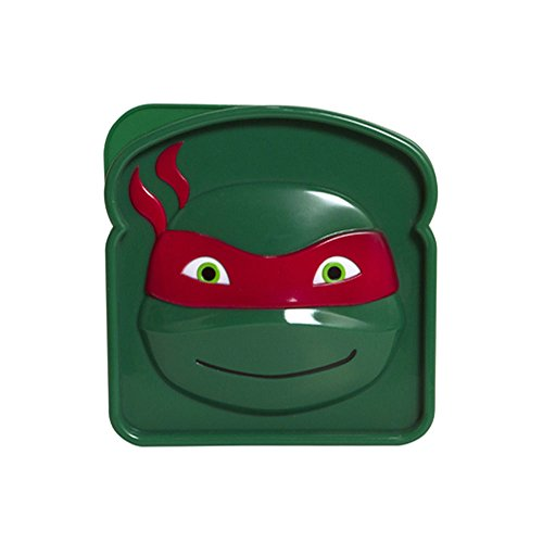 Evriholder Nickelodeon TMNT Sandwich Container, Red/Green, Purple/Green, Orange/Green and Blue/Green