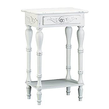 Sunshine Megastore Carved White Side Table