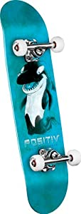 POSITIV Andy Macdonald Walking Orca Complete Skateboard (Blue, 7.75-Inch) from FBAPowerSetup