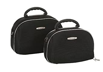 Rockland Luggage Rockland 2 Piece Cosmetic Set, Black, One Size
