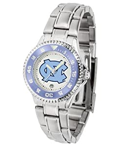 North Carolina Tarheels Ladies Stainless Steel Watch by SunTime