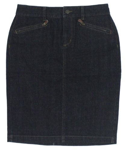Lauren Jeans Co. Women's Denim Pencil Skirt (4, Soho Rinse)