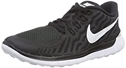 Nike Women\'s Free 5.0 Black/White/Dark Grey/Dv Grey Running Shoe 10 Women US