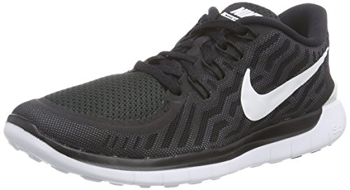 Nike Womens Free 5.0 Black White Textile Trainers 9 US