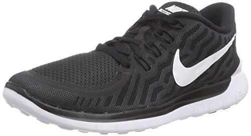 Nike Free 5.0 - Zapatos Mujer, Black/White-Dark Grey-Dove Grey-Wolf Grey, 35.5 EU (2.5 UK)