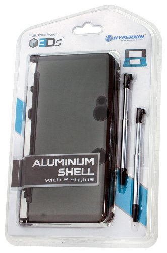 Click To 3DS Aluminum Shell plus Stylus Pens Kit - Gray Details