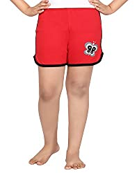 Punkster Red Basic Shorts