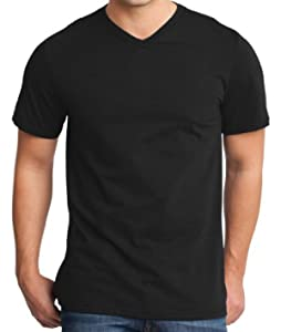 Yoga Clothing For You Mens Modern 100% Cotton V-neck Tee, 3XL Black