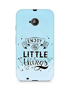 AMEZ enjoy the little things 2 Back Cover For Motorola Moto E2