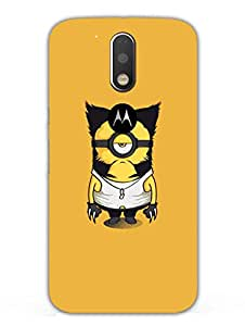 Justgirlythings Minion Wolverine Hard Back Case Cover For Moto G4