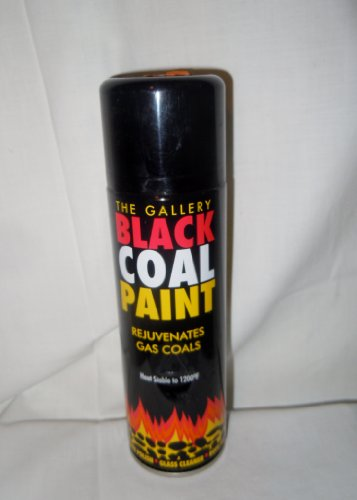 BLACK COAL PAINT SPRAY FOR GAS COALS,STOVE,GRATE,FIREPLACE WOOD OR MULTI FUEL APPLIANCES,FIRE BACKS ,BASKET,PIPE,FLUE,BBQ,AND DIY