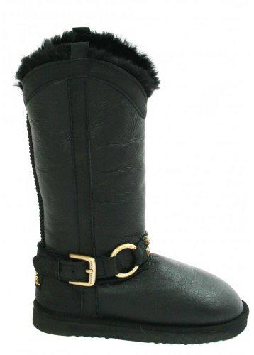 Love From Australia Western Long Nappa Black Sheepskin Boots (10)
