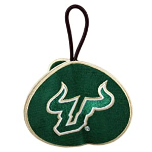 NCAA South Florida Bulls 3 Sided 3D Embroidered Ornament