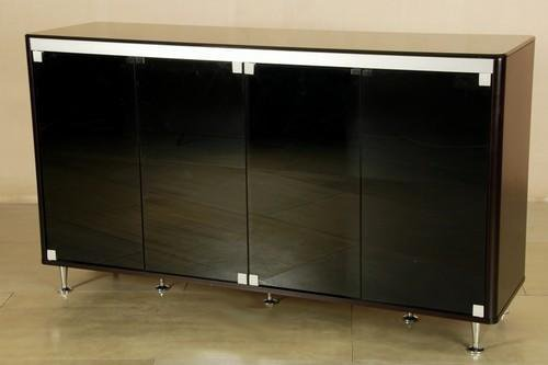 Cheap Black Glass Top Buffet By Chintaly (MONIQUE-BUF)