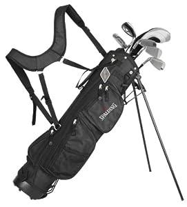 Spalding XS900 Demi-set de golf pour débutant Bois de parcours 5.7.9.sw en fibre de carbone Taille régulière Droitier Noir/argenté 38 cm