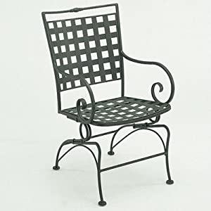 Sheffield Rocking Dining Arm Chair Finish: Textured Black