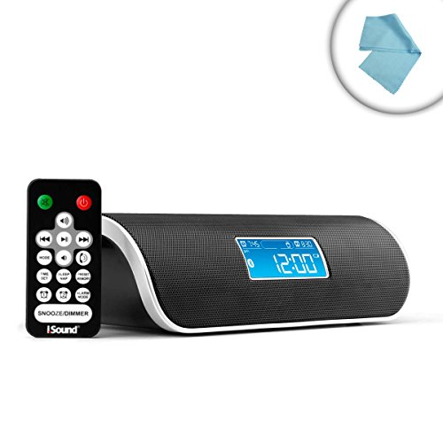 Bluetooth Nfc-Enabled Fm Clock Radio With Wireless Music Streaming , Hands-Free Speakerphone , And Usb Device Charging - Works With Smartphones , Tablets , Mp3 Players , Laptops And Other Bluetooth Enabled Devices! *Includes Cleaning Cloth