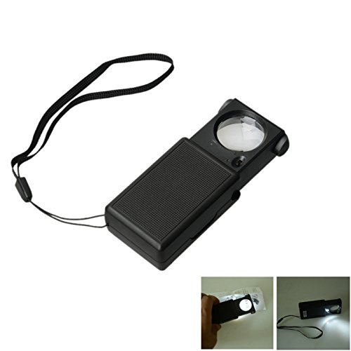 Great Value Loupe & Magnifying Glass 25Mm 45X Zoom Portable Microscope Magnifier With Led Light Black