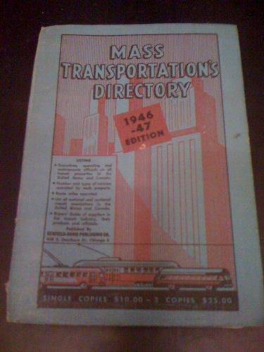 Mass Transportation'S Directory 1946-1947 Edition