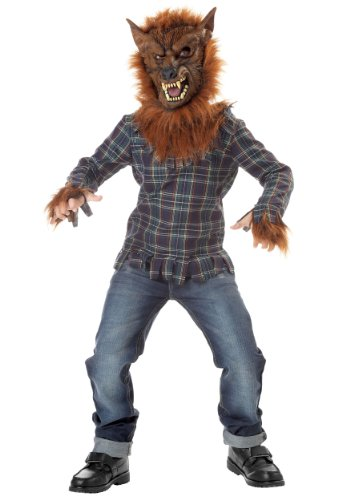 Big Boys' Deluxe Blue Werewolf Costume