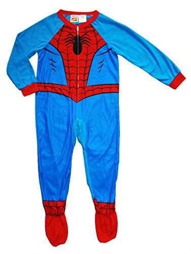 Marvel Spider-Man Big Boys Footed Blanket Sleeper Pajama