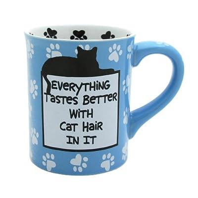 Enesco 4026110 Our Name Is Mud by Lorrie Veasey Cat Hair Mug, 4-1/2-Inch