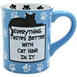 Enesco 4026110 Our Name Is Mud by Lorrie Veasey Cat Hair Mug, 4-1/2-Inch