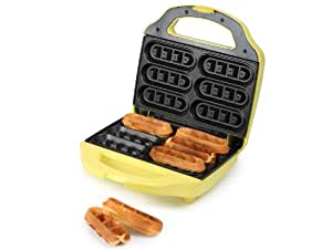 Waffle Maker - Electric Waffle Iron - Includes 24 Lolly sticks to dip Waffle Fingers into Chocolate