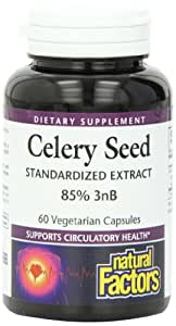 Natural Factors Celery Seed Extract Capsules, 60-Count