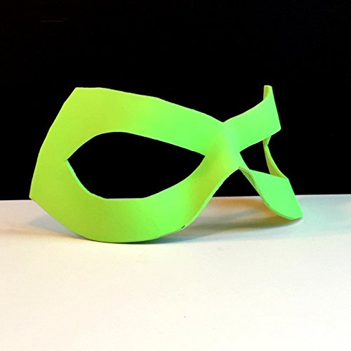 [Neon Green Lantern Leather Mask Halloween CosPlay Masquerade] (Cute Diy Womens Halloween Costume)