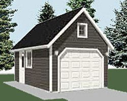 Garage plans 1 car 240 2c 12 39 x 20 39 one for 1 5 car garage plans