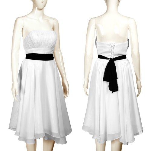 Hochzeitskleid Abendkleid Brautkleid Party Hochzeit Cocktailkleid Ballkleid Größe M
