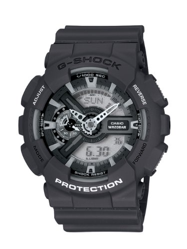 Casio Men's GA110C-1ACR G-Shock Large Black Analog-Digital Multi-Function Sport Watch