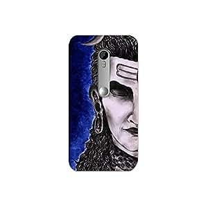 Moto x style nkt11_L (44) Mobile Case by Mott2 - Lord Shiva - Half Face