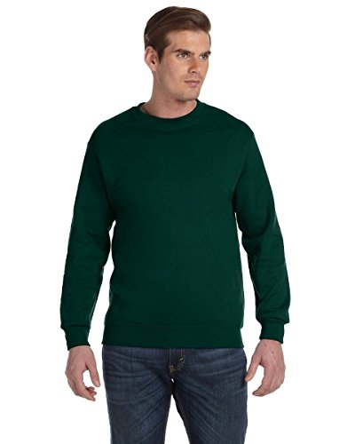 Gildan 9.3 oz. DryBlendTM 50/50 Fleece Crew, Forest Green, 2XL