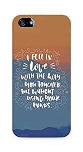 Amez I fell in Love with You Back Cover For Apple iPhone 5s