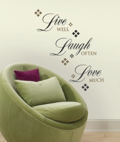 Roommates Rmk1396Scs Live, Love, Laugh Peel & Stick Wall Decals, 22 Count front-841004