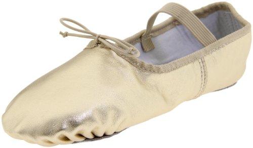 Dance Class Women's B902 Full Sole Metallic Ballet Slipper,Gold,10.5 M US