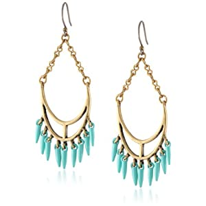 Lucky Brand Spike Chandelier Drop Earrings