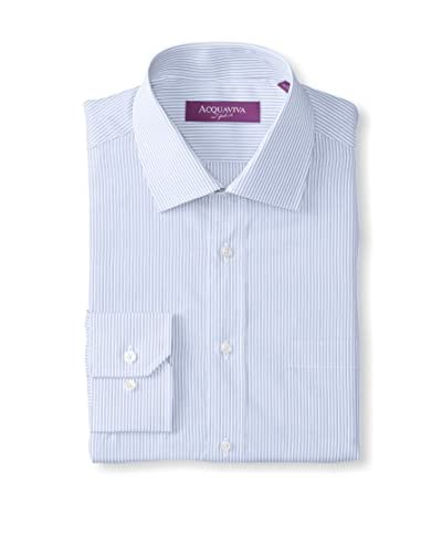 Acquaviva Men's Striped Barrel Cuff Dress Shirt