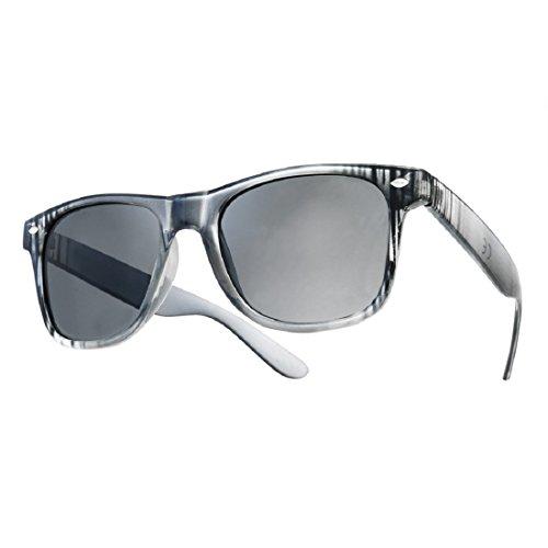 Sonnenbrille Nerdbrille retro Wayfarer Unisex Herren/Damen Sonnenbrille, UV-Schutz 400, Schildpatt Herren Sonnenbrille Spicoli 4 Shades, Tortoise Aussen, One size (14)