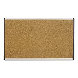 ARC Frame Cork Cubicle Board, 18 x 30, Tan, Aluminum Frame, Sold as 1 Each